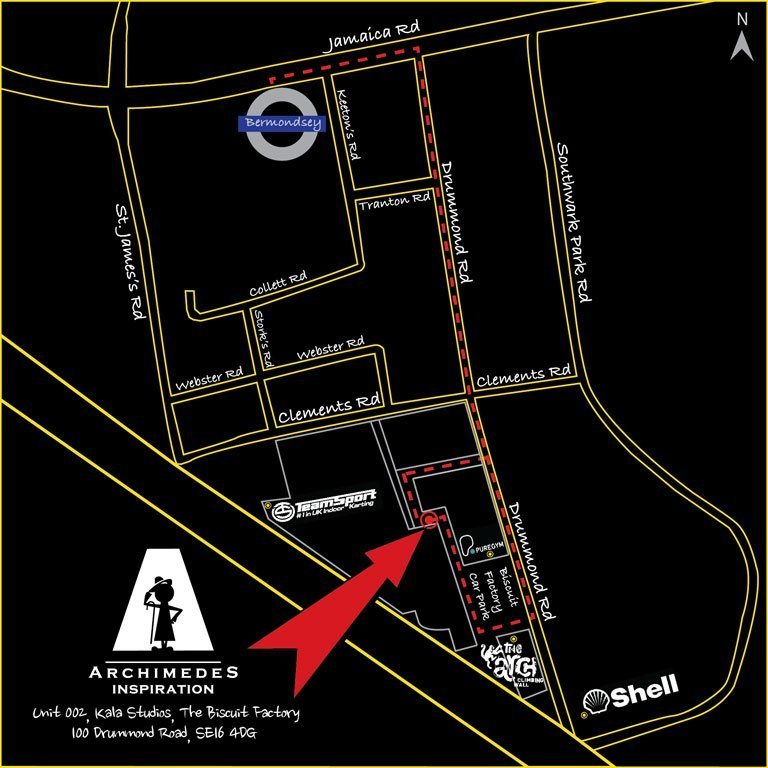 AI Escape Rooms London Map
